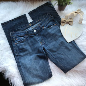 7 For All Mankind Medium Wash Boot Cut Jeans 29